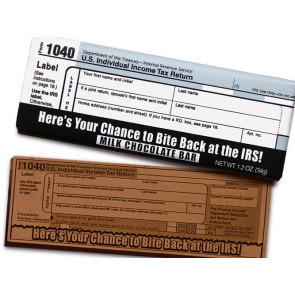 IRS 1040 Chocolate Wrapper Bars - Stock No Logo