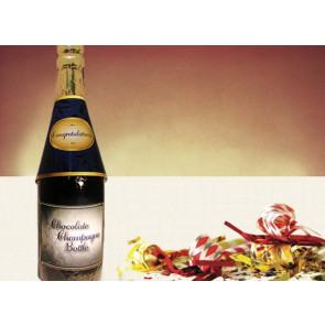 Milk Chocolate Congratulations Champagne Bottle