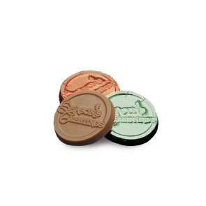 Season's Greetings Chocolate Coins - Stock No Logo