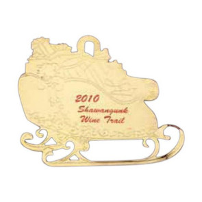 Sleigh Festive Holiday Ornament with Color Trim