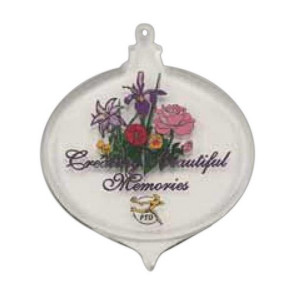 Bulb Shaped Acrylic Ornament with Custom Imprint