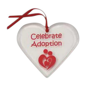 Heart Shaped Acrylic Ornament with Custom Imprint