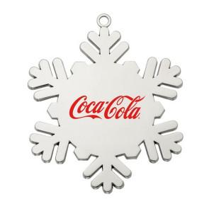 Cast Silver Snowflake Ornament