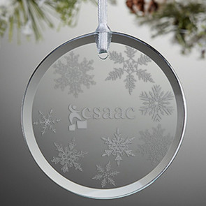 Glass Round Ornament / Suncatcher
