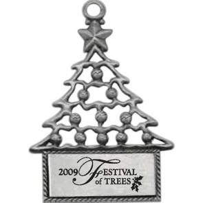 Pewter Finish Tree Shape Ornament
