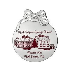 Silver Ball Shape Christmas Ornament