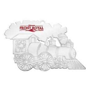 Train Silver Holiday Ornament