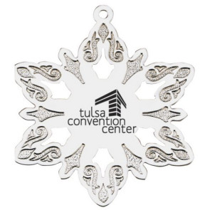 Silver Snowflake Holiday Ornament