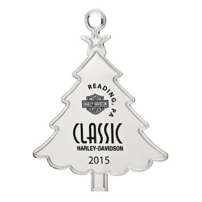 Silver Tree Shape Custom Christmas Ornament