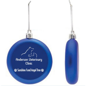 Shatter Proof Round Flat Ornament