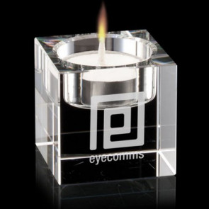 Perth Candleholder - Optical Crystal 2