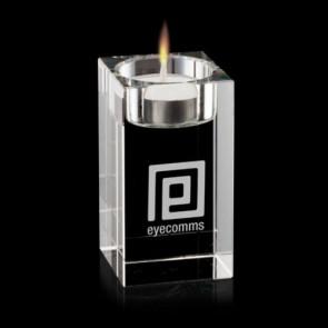 Perth Candleholder - Optical Crystal3 1/2