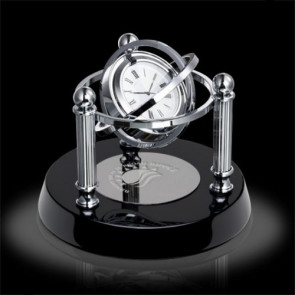 Blanchard Clock - Black/Chrome 6 in.