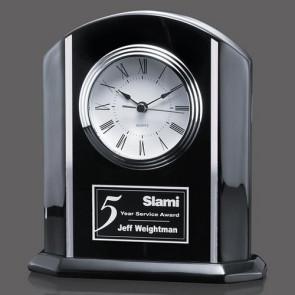 Putman Clock - Black/Aluminum 7-7/8 in.