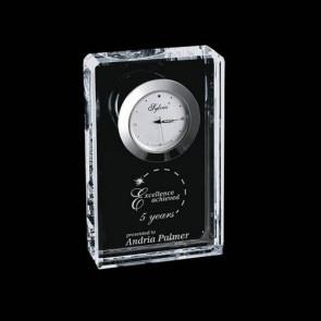 Burlington Clock - Optical Crystal 4.5 in. Wide