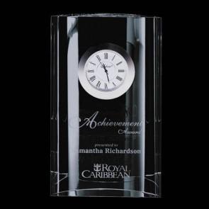 Ellesworth Clock - Optical Crystal 6 in.