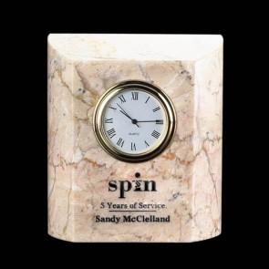 Ajax Clock - Marble Botocino