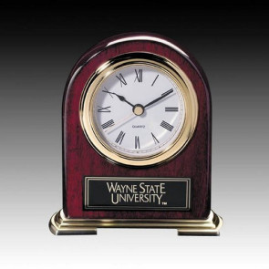 Birmingham Clock - Rosewood with Gold Accents