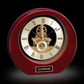 Catarina Clock - Rosewood 8in.