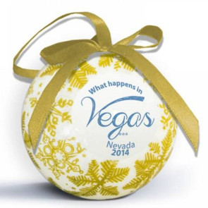 Snowflake Shatterproof Ornament with Logo Imprint - Gold
