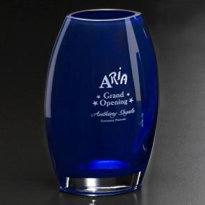 Cobalt Oval Vase 12 in.