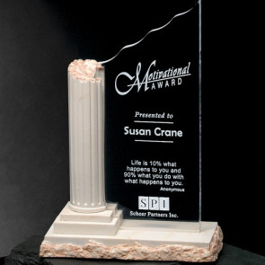 Corinthian Column Marble Award 10-1/2 in.