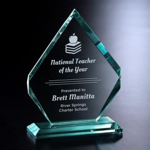 Kingsley Jade Crystal Award 9-1/2