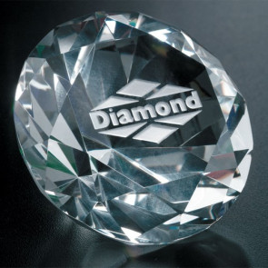 Diamond Paperweight 3-1/4 in. Dia.