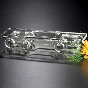 Crystal Flatcar Train 10-1/2 in. W