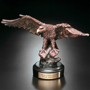 Eagle on Rock Award  8-1/2 in.