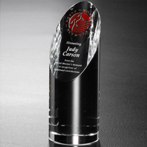 Quantico Cylinder Optical Crystal Award 7-1/2 in.