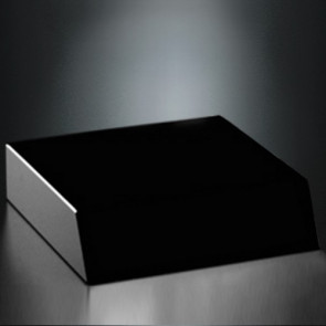 Black Glass Base 5 x 5 x 1-1/4