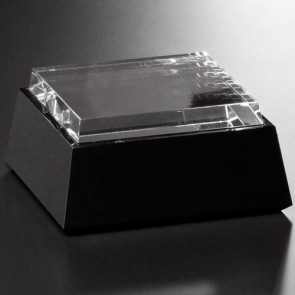 Black and Optical Glass Base - Square