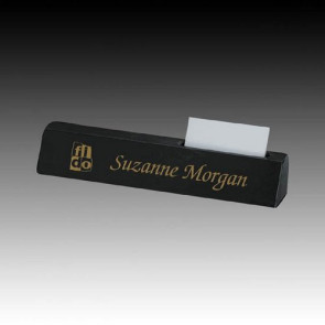 Marble Nameplate with Cardholder