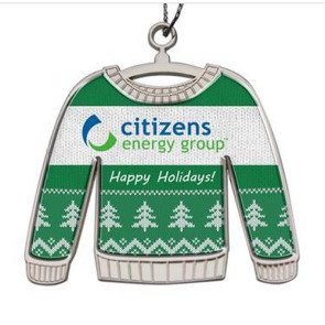 Ugly Sweater Christmas Holiday Ornament