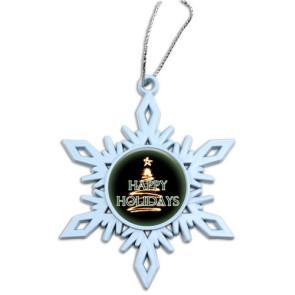 White Snowflake Holiday Ornament