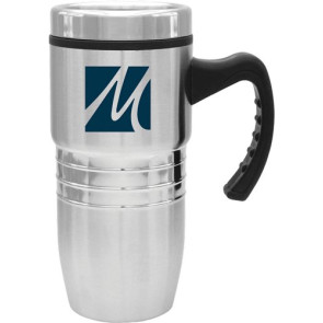 Steel City Stainless Mug w/Polished Rings