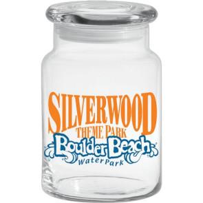 26 oz Clear Apothecary Jar w/Flat Lid