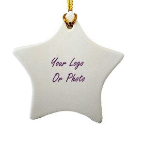 Ceramic Star Ornament with Imprint