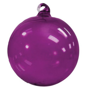 Glass Christmas Ornaments Hand Blown  - Purple