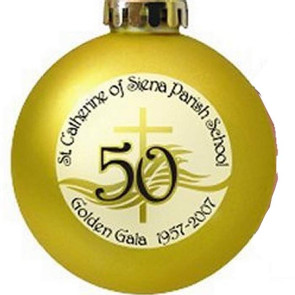 Christmas Ball Ornaments Shatterproof Plastic - Gold