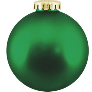 Christmas Ball Ornaments Shatterproof Plastic-  Green Ornaments