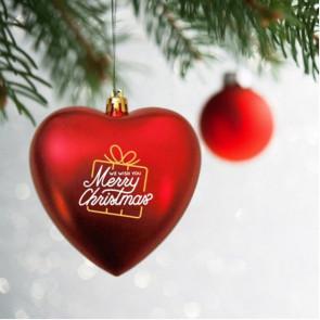 Red Heart Shape Plastic Shatterproof Ornament