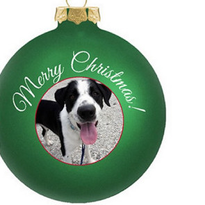 Customized Glass Christmas Ornaments - Full Color Design