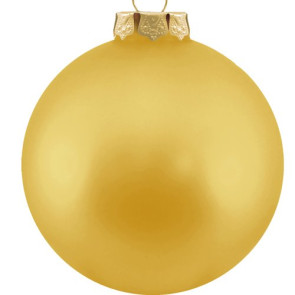 Customized Glass Christmas Ornaments -Gold Ornament