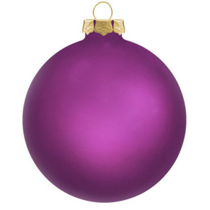 Customized Glass Christmas Ornaments -Purple
