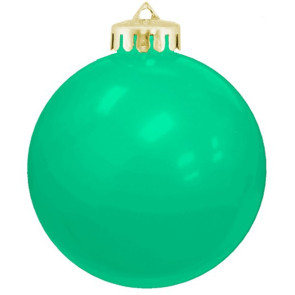 USA Shatterproof Christmas Ball Ornaments - Aqua