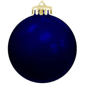 USA Shatterproof Christmas Ball Ornaments - Blue