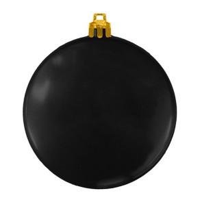 USA Made Custom Christmas Ornaments - Flat Shatterproof - Black