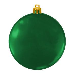 USA Made Custom Christmas Ornaments - Flat Shatterproof - Green